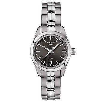 Tissot Watches T101.010.11.061.00 Pr100 Silver Stainless Steel And Gunmetal Grey Ladies Watch