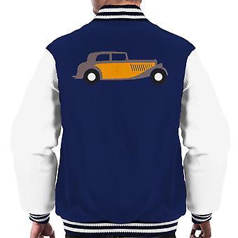 Citro�n Traction Classic Car Sketch Men's Varsity Jacket