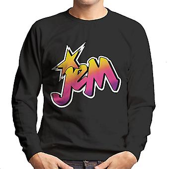 Jem And The Holograms Classic Faded Logo Men's Sweatshirt