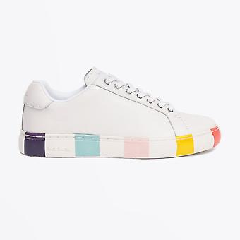 Paul Smith  - Leather 'Lapin' Stripe Sneakers - White