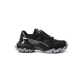 Valentino Garavani Uy2s0c20drzpg0 Heren's Black Leather Sneakers