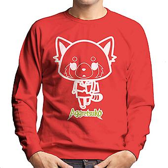 Aggretsuko Retsuko Office Attire Outline Men's Sweatshirt