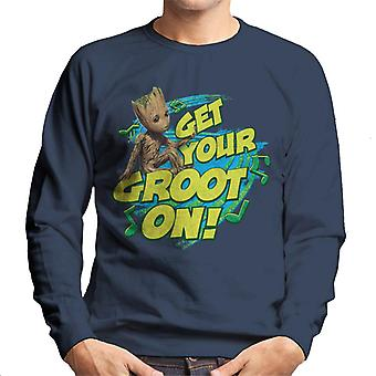 Marvel Guardians Of The Galaxy Vol 2 Get Your Groot On Men's Sweatshirt