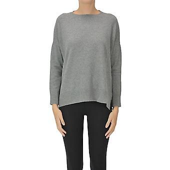 Anneclaire Ezgl112030 Frauen's Grau Wolle Pullover