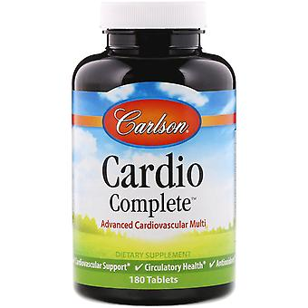 Carlson Labs, Cardio Complete, Advanced Cardiovascular Multi, 180 Tablets