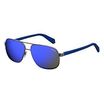 Sonnenbrille Herren   2059/SKJ1/5x  Herren  silber/blau