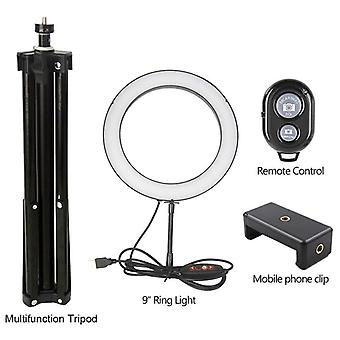 Led 8.6 inch Camera Ringlight Trepied Stand Suport telefon pentru Youtube Tiktok Fotografie Video Photo Studio Lamp Kit