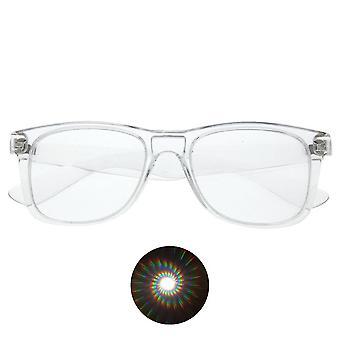Difracción espiral 3d Prism Raves Gafas de plástico para fuegos artificiales pantalla láser