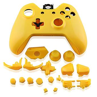 Housing shell for xbox one controller microsoft 1st gen 1537 full complete repair kit - matte yellow | zedlabz
