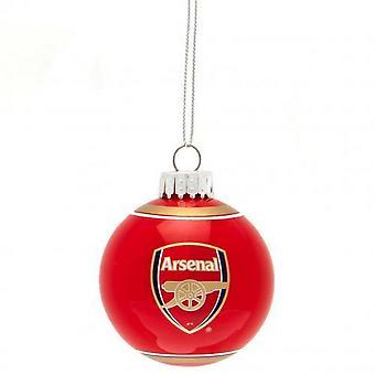 Arsenal FC joulu lasi bauble