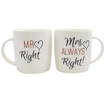 Quelque chose de différent droit de M./Mme toujours bonne tasse en céramique coffret Mug