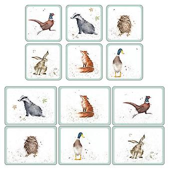 Pimpernel Wrendale Designs Placemats and Coasters Set of 6