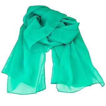 Bånd Planet Plain Turkis Chiffon Tørklæde