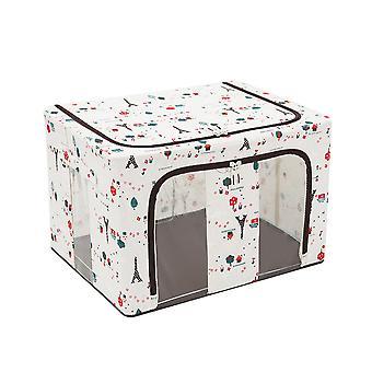 YANGFAN Coton et Lin Double Vertical Fenêtre Pliage Quilt Boîte de rangement