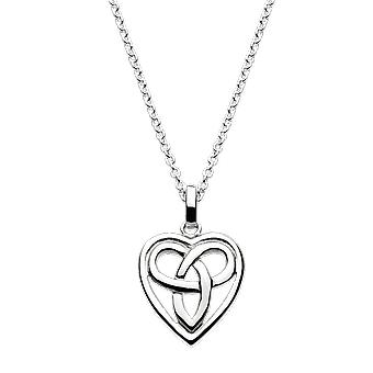 Heritage Sterling Silver Celtic Aamor Small Heart Pendant 92028HP