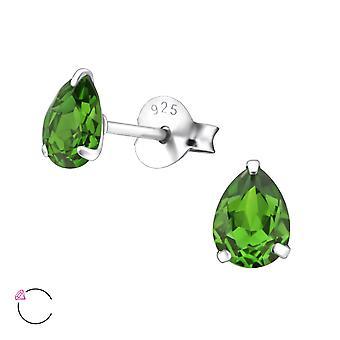 Birne-Kristall aus Swarovski® - 925 Sterling Silber Ohrstecker - W24397x