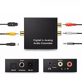 3.5mm Rca Digital To Analog Audio Converter Amplifier Decoder Optical Fiber