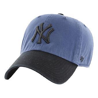 47 العلامة التجارية نيويورك يانكيز اثنين لهجة تنظيف كاب -- الأزرق الأخشاب