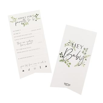 Baby Shower Advice Cards - Botanical Baby x 10