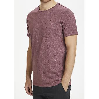 Jermane Port Burgundy Marl T-Shirt