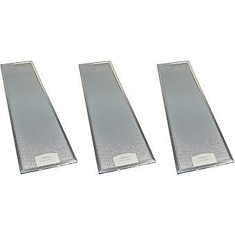 3 x Universal Cooker Haube Metall Fettfilter 159mm x 561mm