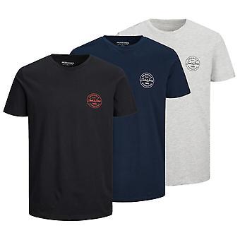 Jack & Jones Lisää 3 Pack T-paita Vaaleanharmaa 86