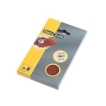 Flexovit Hook & Loop Sanding Block Refill Kit Medium 80g (6) FLV26348
