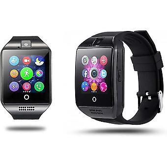 Q18 الروبوت نظام التشغيل Smartwatch - أسود - مع العديد من التطبيقات المفيدة
