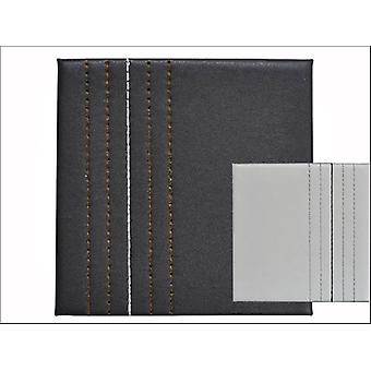 Home Living Coasters Faux Leather Chocolate + Cream  Stitch x 4