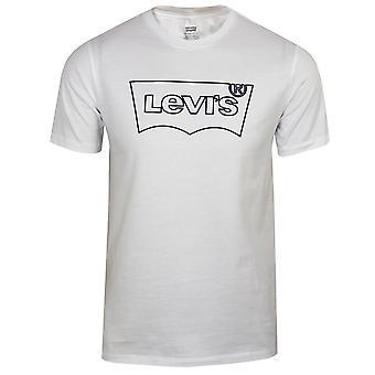 Levi's men's white housemark graphic outline t-shirt
