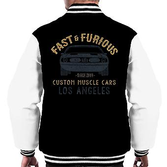 Fast and Furious Custom Muscle Cars Los Angeles Men's Varsity Jacket