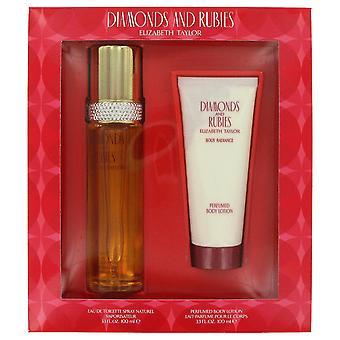 Diamonds & Rubies Perfume by Elizabeth Taylor Gift Set