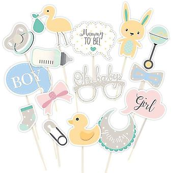 Photo Booth Props Unisex - Pack of 15 Baby Shower