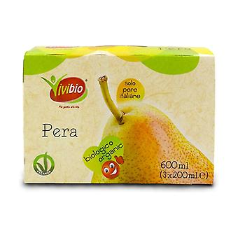 Pear juice and pulp 3 units of 200ml