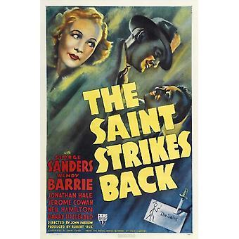 A impressão de cartaz de filme de Saint Strikes Back (27 x 40)