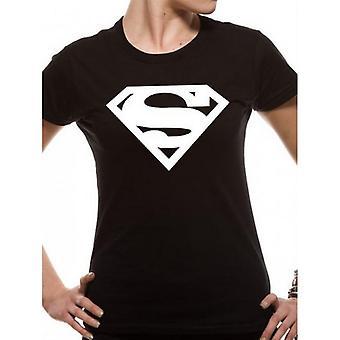 Superman Unisex camiseta ajustada con logotipo para adultos