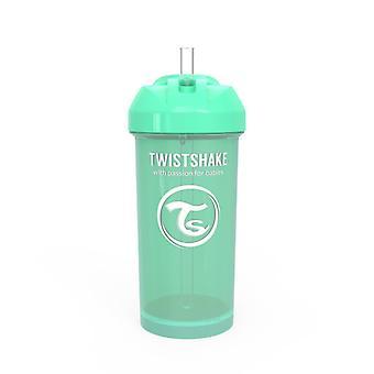 Twistshake Straw Cup 360ml Pastel Green