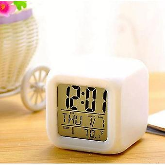 7 Color Led Cambiar Reloj de Alarma Digital, Luz Nocturna