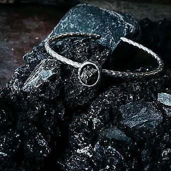 楕円形隕石カフブレスレット
