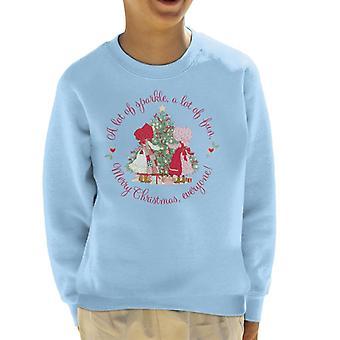 Holly Hobbie Jul Sparkle og Sjov Kid's Sweatshirt