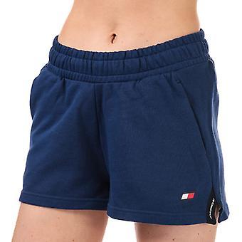Kvinner's Tommy Hilfiger Bio Cool Tape Detalj Shorts i blått