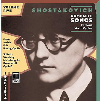D. Shostakovich - Shostakovich: Complete Songs, Vol. 5, Famous Song Cycles [CD] USA import