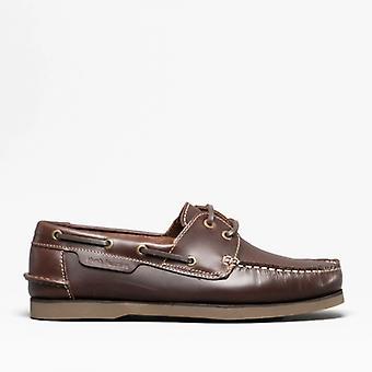 Hush Puppies Henry miesten nahka kannella kengät ruskea