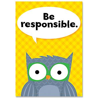 Be Responsible Woodland Friends Inspire U Affiche
