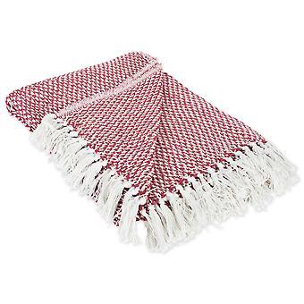 Dii Scheune rot gewebt werfen Decke