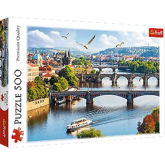 Trefl prague czech republic 500 pieces puzzle premium quality