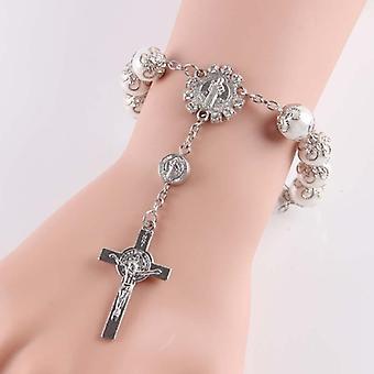 10kpl katolinen lasi helmi helmiä - Decade Rosary Pendent
