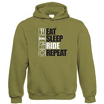 Ät Sleep Ride upprepa mountainbike hoodie-Freeride singletrack Downhill MTB