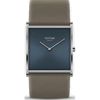 VOTUM - Montre Femme - SQARE - Pure - V02.10.50.06 - Bracelet en cuir - gris-brun