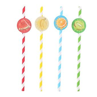 Drinking Straws Fruit 19.5 Cm Paper 20 Pieces
